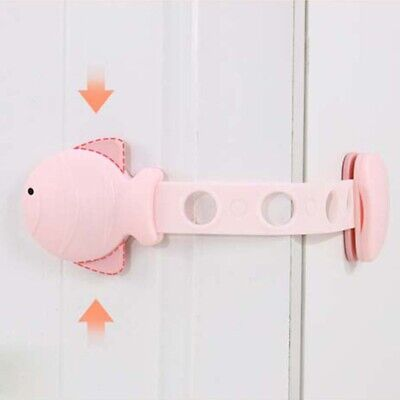 Multi-function small fish baby anti-pinch safety drawer lock door