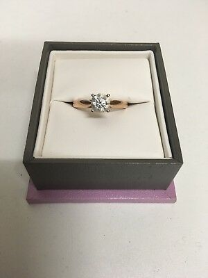 14k Rose Gold Solitaire Diamond (0.7 ct) Engagement Ring