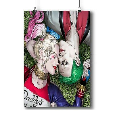 Harley Quinn and Joker Personalized Custom Tapestry Art Wall Hanging Home Decor