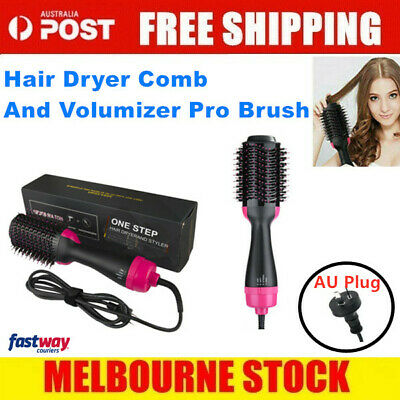 4 in 1 Pro Salon One-Step Hair Dryer and Volumizer Oval Brush Design AU