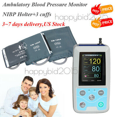 CONTEC Ambulatory Blood Pressure Monitor NIBP Holter+3-cuff,Software FDA CE