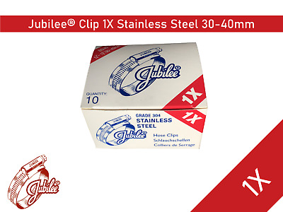 Stainless Steel Genuine Jubilee Hose Clamp Size 30mm-40mm Ref 1X Hose Clip