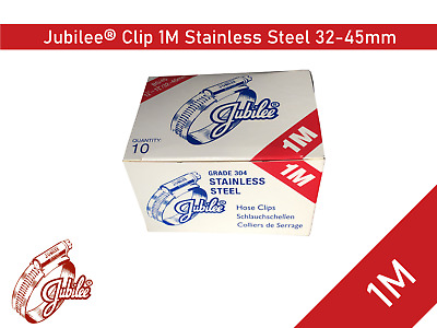 Stainless Steel Genuine Jubilee Hose Clamp Size 35mm-50mm Ref 1M Hose Clip