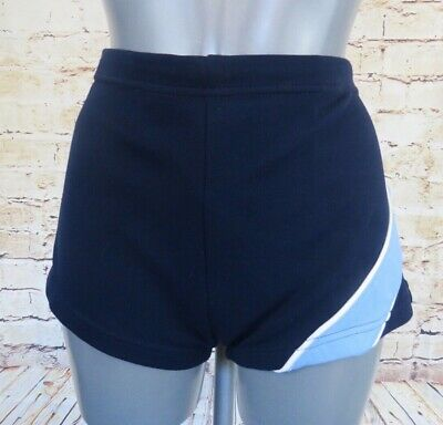Vintage Rodeo Navy Blue Nylon Swimming Costume Trunks Lido Briefs Shorts