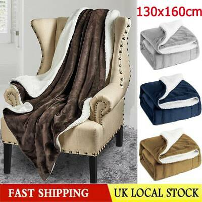 Bedsure Sherpa Blanket Fleece Throw Reversible Warm Blanket for Bed and Couch UK