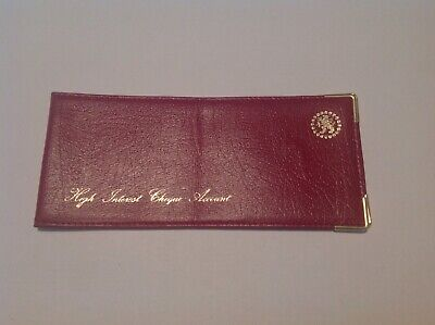 Vintage cheque book holder real leather folding wallet