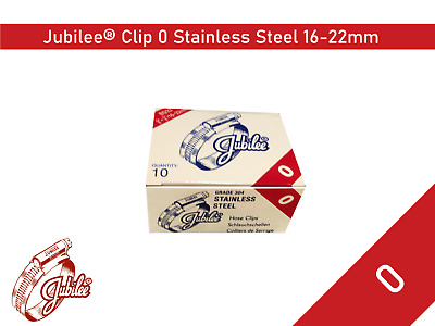 Stainless Steel Genuine Jubilee Hose Clamp Size 16mm-22mm Ref 0 Hose Clip