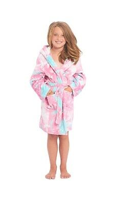 Girls Hooded Dressing Gown Kids Housecoat Nightwear  Childrens Bathrobe