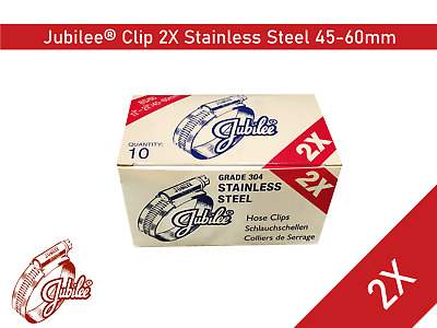Stainless Steel Genuine Jubilee Hose Clamp Size 45mm-60mm Ref 2X Hose Clip