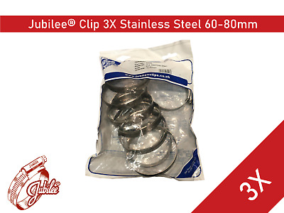 Stainless Steel Genuine Jubilee Hose Clamp Size 60mm-80mm Ref 3X Hose Clip