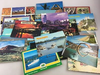 Vintage - Various Colour Postcards - Australian Cities - Holidays Some Used
