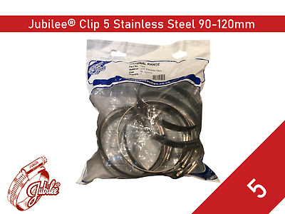 Stainless Steel Genuine Jubilee Hose Clamp Size 90mm-120mm Ref 5 Hose Clip