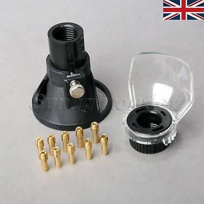 Locator + Protective Shield + 10x Brass Collets for Drills Rotary Tools