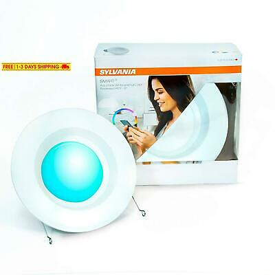 """Sylvania Smart+ Rt 5/6"""" Recessed Lighting Kit, Color Changing And Dimmable Led,"""