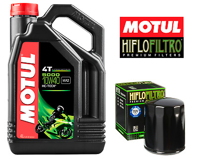 Motul 5000 4T 10W40  Motorcycle Engine Oil 10W-40 4 Litres 4L + Free Oil Filter