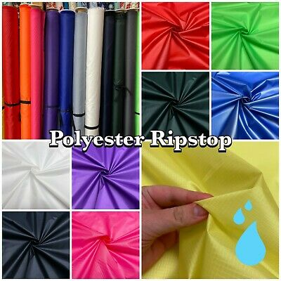 Plain Polyester Ripstop Water Resistant Shower-proof Dressmaking + Craft Fabric