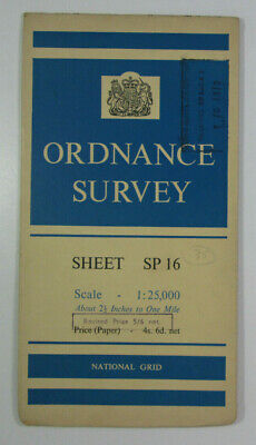 1959 Old OS Ordnance Survey 1:25000 First Series Map SP 16 Henley in Arden