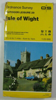 1990 Old Vintage OS Ordnance Survey 1:25000 Map Outdoor Leisure 29 Isle of Wight