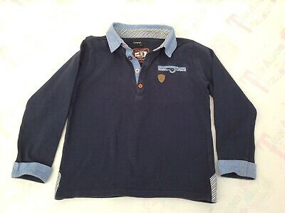 Marks & Spencer M&S Boys Navy Blue Sweatshirt Top Age 6-7 - Ex Con