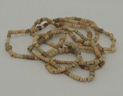 Ancient Egyptian Carved Bead Necklace 1300Bc 090
