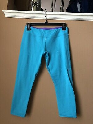 Girl's IVIVVA Turquoise Blue Purple Capri Leggings - Size 14