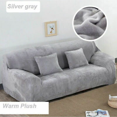 Elastic Fabric Sofa Cover Sectional/Corner Couch Covers Home Decor 4 Seats New