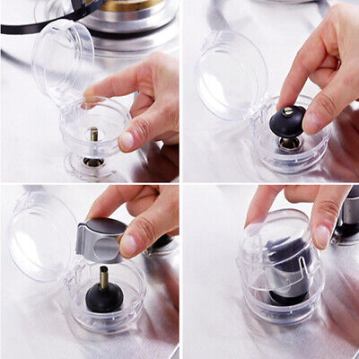2x Stove Knob Cover Protector Transparent Controls For Oven Control Knobs Safety