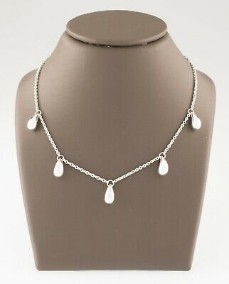 Tiffany & Co. Sterling Silver Elsa Peretti Five Drop Necklace Gorgeous!
