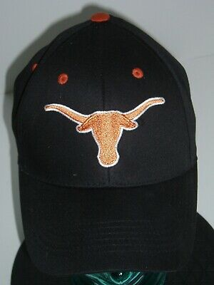 Texas Longhorns 2-Color Embroidered 65/35 Adjustable Baseball Cap Black