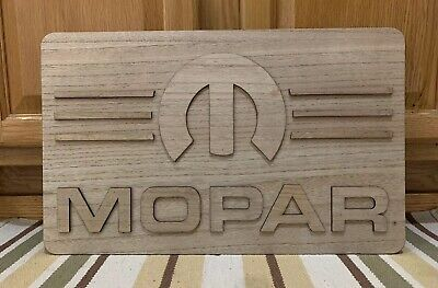 Mopar Wood Wall Decor Gas Oil Garage Car Vintage Style Dodge Garage Tool Part