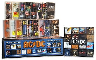 AC/DC - 17 NEW/SEALED remastered cassette tapes in a custom box set lot