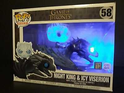 Custom Funko Pop - Light Up Night King & Icy Viserion, HBO, Game of Thrones