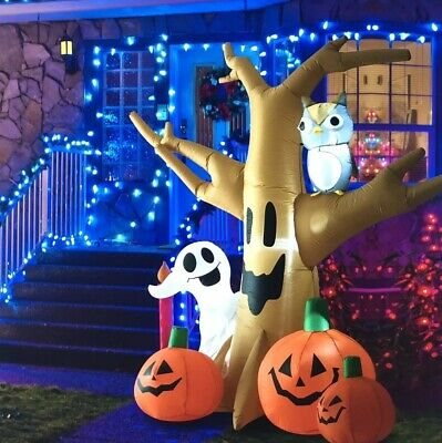 Haunted Tree Halloween Decoration 7.5 Outdoor Lighted Inflatable REDUCED PRICE