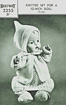Bestway-2255    Vintage Dolls Clothes knitting Pattern   Lots of Items   3 Ply