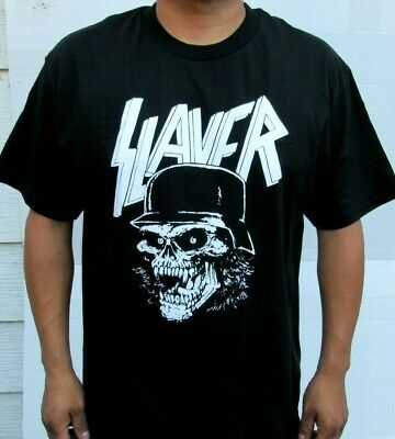 New!! Slayer Skull W Metal Rock T Shirt Men's Sizes