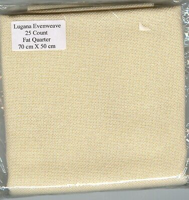 Lugana 25 count Evenweave Fabric by Zweigart - Colour: Cream