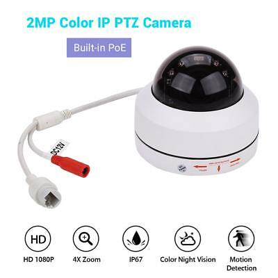 HD 1080P POE IP PTZ Camera Onvif Network Security Smart Color Night Vision Speed