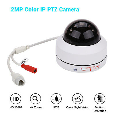 1080P IP PTZ Camera Smart 4X Zoom Network Onvif Color Night Vision Speed H.265