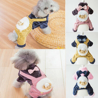 Winter Warm Padded Dog Clothes Knitwear Pet Fleece Coats Vest Jacket for Dogs
