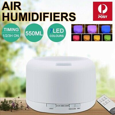 Essential Air Mist Oil Aroma Diffuser Ultrasonic Humidifier Aromatherapy 500mL