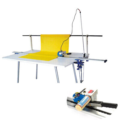 """220V High Speed Delay Function Fabric Cloth Cutter w/86"""" Rack & Digital Counter"""