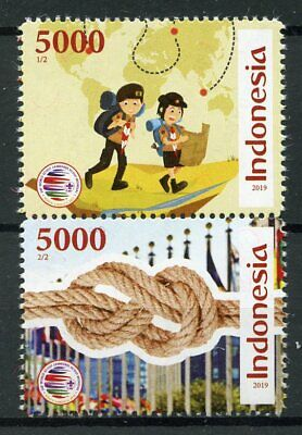 Indonesia 2019 MNH Scout Jamboree Knots 2v Set Scouts Scouting Stamps