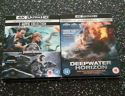 Jurassic 2 Movie Collection 4k UHD & Deepwater Horizon Brand New & Sealed