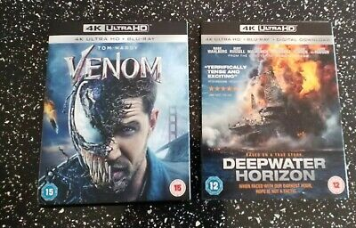 Venom 4K  & Deepwater Horizon 4K UHD HDR Brand New & Sealed