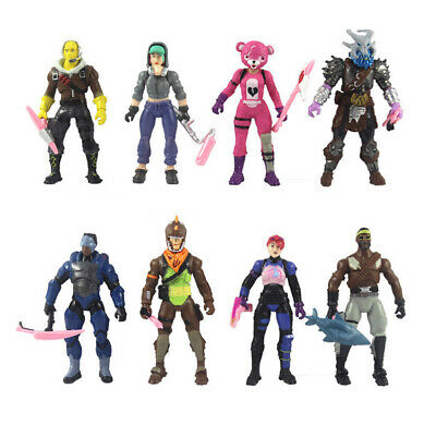 Kids 8pcs Fortnite Battle Royale S8 Action Figure Display Collection Toy Doll