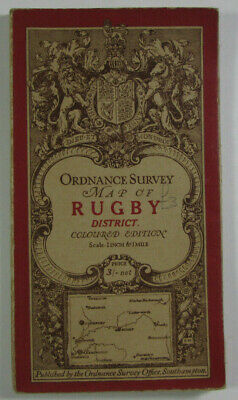 1912 Old Antique OS Ordnance Survey One-Inch Third Edition Map Rugby District