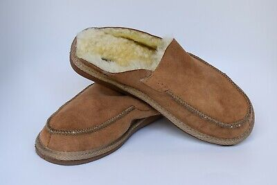 Men's Women's Genuine Sheepskin Slippers 100% Real Fur Hand Crafted HARD SOLE
