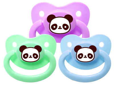 Panda Adult Pacifier - Soother Dummy abdl mdlg mdlb Binky Paci ddlg ddlb ageplay