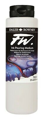 Daler Rowney FW Ink Pouring Medium, 750ml - Ideal for Acrylic Art