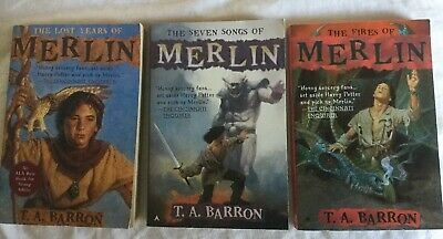 3 PBs By T.A. Barron : The Lost Years of Merlin, 7 Songs of Merlin, Fires of Mer